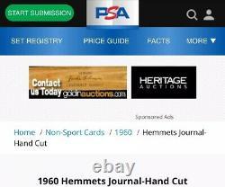 1960 Floyd Patterson Hof Psa 8 Hemmets Journal Highest Grade (ultra Rare)