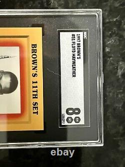 1997 Brown's Boxing #51 FLOYD MAYWEATHER Jr. Rookie Card RC SGC & Signed Trunks