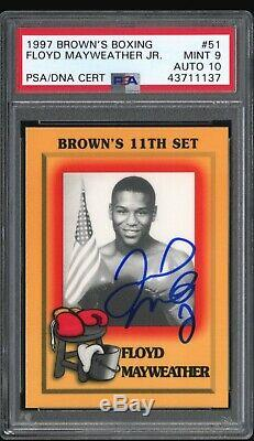 1997 Browns Boxing Floyd Mayweather Signed Autograph PSA/DNA MINT9 AUTO10 RC