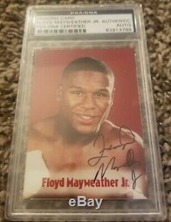 2001 Browns Boxing Signed/Autograph Floyd Mayweather Card PSA encapsulated