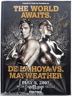 2007 FLOYD MAYWEATHER JR v OSCAR DE LA HOYA fight program signed by Mayweather