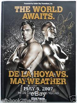 2007 FLOYD MAYWEATHER v OSCAR DE LA HOYA programme signed by Mayweather with LOA
