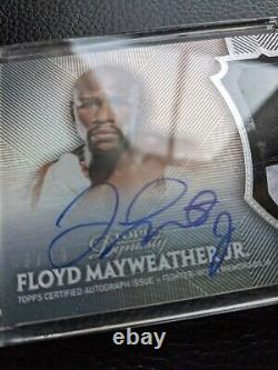 2017 Topps Floyd Mayweather Jr On Card Certified Autograph Boxing Champion 06/10