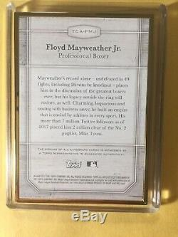 2017 Topps Floyd Mayweather SP 22/25 Gold AUTO Boxing Champ Signed Autograph