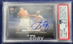 2017 Topps Now #MM4A Floyd Mayweather vs Conor McGregor Blue /49 PSA 10 Auto 10