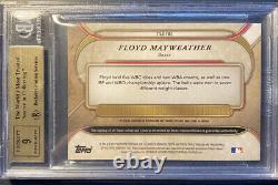 2017 Topps Triple Threads Floyd Mayweather Autograph Memorabilia 7/18 PSA 9.5