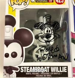 Artist FLOYD NORMAN signed Mickey+Minnie Mouse Funko POP Set with sketches BAS COA