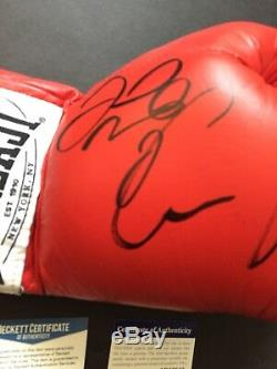 Autographed Conner McGregor And Floyd Mayweather Signed Glove PSADNA