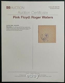 Autographed Pink Floyd The Wall Vinyl Record Signed Roger Waters 3 LOA BAS