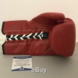 Autographed/Signed FLOYD MAYWEATHER JR Money TITLE Boxing Glove Beckett BAS COA