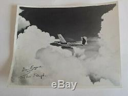 Avro Canada Jetliner 8x10 Photo / Signed Jim Floyd (Eng) & Don Rogers (Pilot)