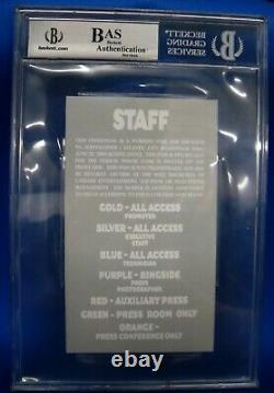 BAS Floyd Mayweather Jr. Autographed Signed 2005 Staff Ticket Vs Gatti G00 2583
