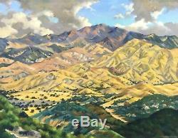 C. 1940's Floyd Copeland Chandler Modernist Oil San Pasquel Valley San Diego Ca