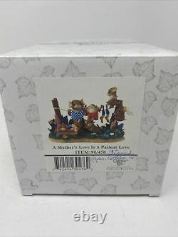 Charming Tails A Mothers Love Is Patient Love 98/458 Fitz and Floyd Signed