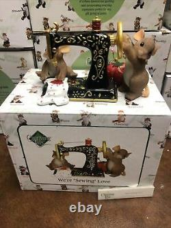 Charming Tails Fitz and Floyd Were Sewing Love 84/149 SIGNED Rare