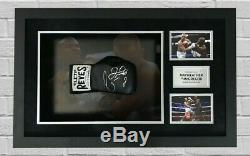 Conor McGregor & Floyd Mayweather Signed & FRAMED Boxing Glove AFTAL COA (B)