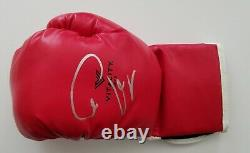 Conor McGregor Signed Boxing Glove Preowned Floyd Mayweather UFC Fighter RAD