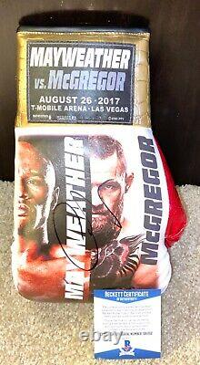 Conor Mcgregor Signed Official L. E. Boxing Glove Floyd Mayweather Jr Ufc Bas