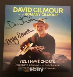 DAVID GILMOUR AND POLLY SAMSON SIGNED CD In Hand Autographed Pink Floyd