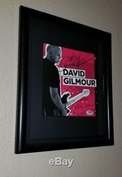 DAVID GILMOUR SIGNED AUTOGRAPHED AUTO PINK FLOYD PROOF PSA 100% Grade 9 AUTO