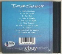 DAVID GILMOUR Signed On An Island CD WITH BECKETT BAS COA psa jsa Pink Floyd