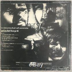 David Gilmour PINK FLOYD Signed / Autographed Saucerful Album LP FA LOA