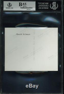 David Gilmour Pink Floyd Authentic Signed 4x5 Photo Autographed BAS Slabbed