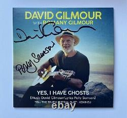 David Gilmour Pink Floyd Hand Signed Yes I Have Ghosts CD Polly Samson Book