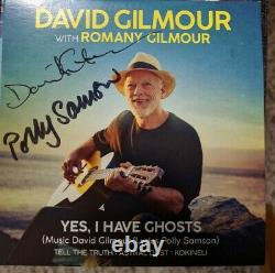 David Gilmour & Polly Samson Signed Autographed Yes I Have Ghosts CD Pink Floyd