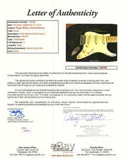 David Gilmour & Roger Waters signed autographed Fender guitar Pink Floyd JSA LOA