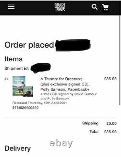 David Gilmour SIGNED Yes, I Have Ghosts CD Theatre Polly Pre Order Pink Floyd