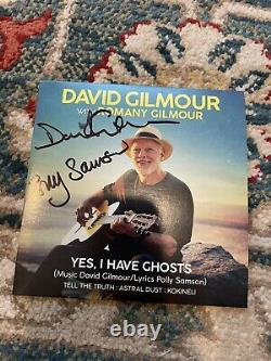 David Gilmour Signed 4 track cd Autograph PINK FLOYD Rare Polly Samson Book