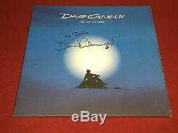 David Gilmour Signed Lp Autographed On An Island Pink Floyd Proof