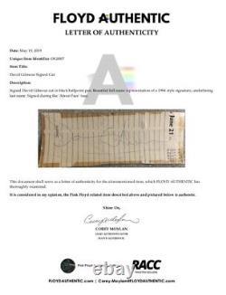 David Gilmour Vintage Signed Cut Very Rare Pink Floyd FA LOA