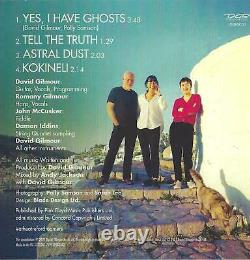 David Gilmour Yes I Have Ghosts Signed CD Pink Floyd Autograph Polly Samson