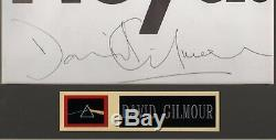 David Gilmour autograph Signed book page Pink Floyd Dark Side of the Moon FA LOA