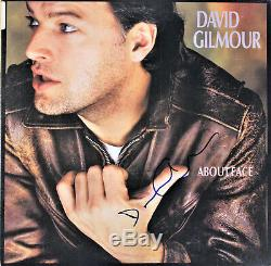 David Gilmour of Pink Floyd signed About Face Vinyl Record, FA LOA