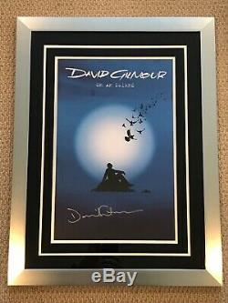 David GilmourPink FloydAutograph/Signed/Framed On An Island Album Promo Poster