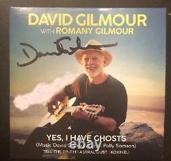 David gilmour signed CD cover yes i have ghosts autographed pink floyd
