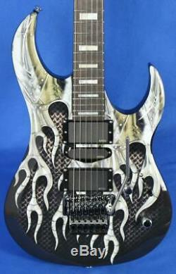 Dean Michael Batio MAB1 Armored Flame Electric Guitar with Floyd Rose Signed