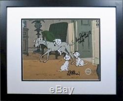Disney Sericel Cel Perdita 101 Dalmatian Hand Signed Floyd Norman Lisa Daniels