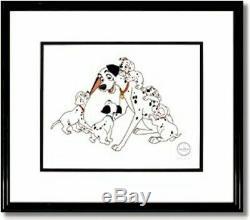 Disney Sericel Cel Pongo 101 Dalmatian Hand Signed Floyd Norman New Frame