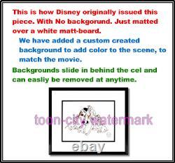Disney cel Sericel Pongo 101 Dalmatian Hand Signed Floyd Norman New Frame