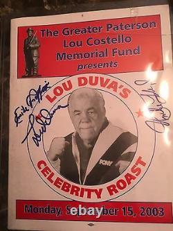 EMILE GRIFFITH, LOU DUVA UNCLE FLOYD Autographed Jsa Authenticity