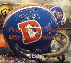 FLOYD LITTLE Signed Autographed Broncos Full Size D-Style TK 2-Bar Helmet