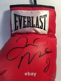FLOYD MAYWEATHER / CANELO ALVAREZ SIGNED BOXING GLOVE JSA Authenticated
