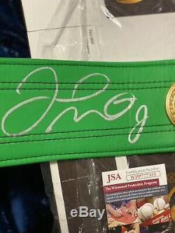 FLOYD MAYWEATHER JR. AUTOGRAPHED SIGNED GREEN WBC FULL SIZE BElT