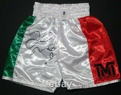 FLOYD MAYWEATHER JR. Signed Autographed BOXING TRUNKS TMT. BECKETT WITNESSED