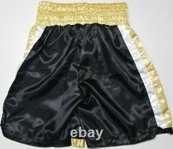 FLOYD MAYWEATHER JR. Signed Autographed HUBLOT Boxing Trunks. BECKETT WITNESSED