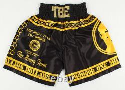 FLOYD MAYWEATHER JR. Signed HUBLOT Boxing Trunks / Shorts Inscribed TBE (BAS)
